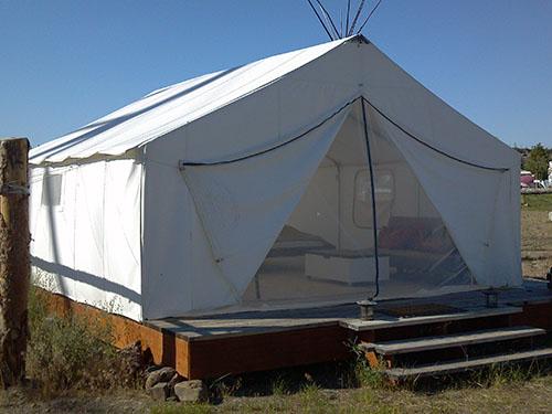 & Luxury Tent Photos u2013 Log House RV Park
